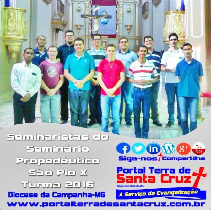 Seminário Propedêutico São Pio X recebe novos propedeutas/Diocese da Campanha-MG