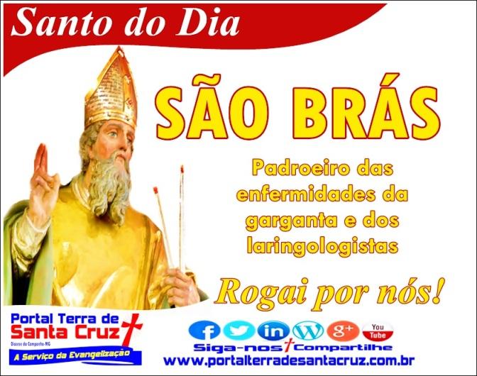 Hoje é celebrado o dia de São Brás, padroeiro das enfermidades da garganta e dos laringologistas