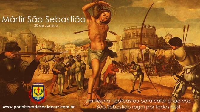 São Sebastião, defensor da Igreja, martirizado por amar Cristo