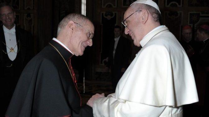 Pesar do Papa Francisco pela morte do cardeal Jean-Louis Tauran